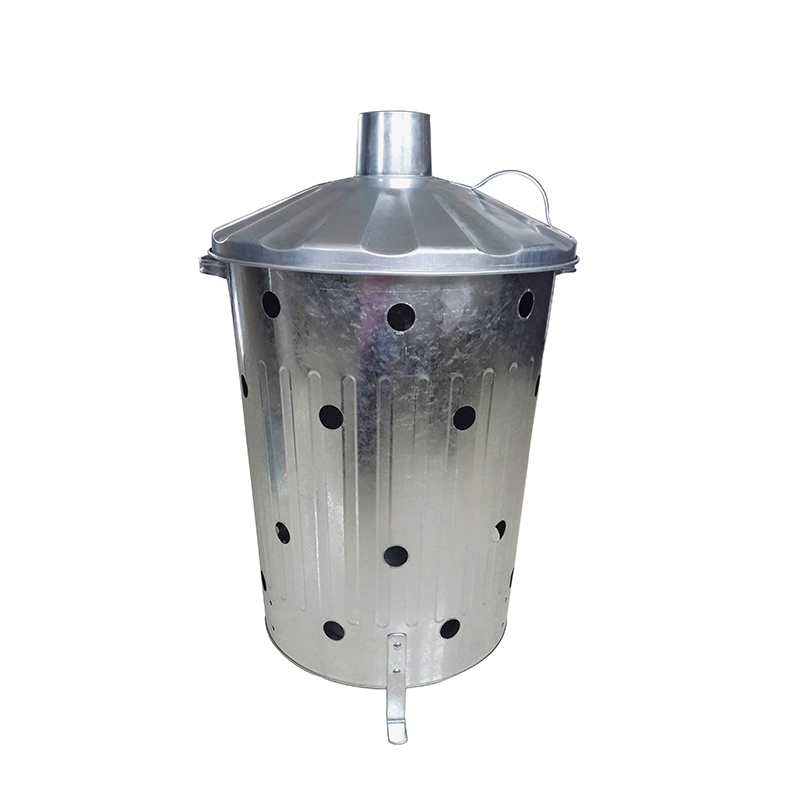 75L galvanized incinerator