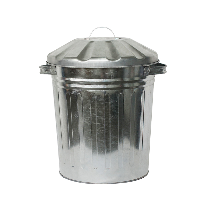 Home garden galvanized metal waste bin for sale