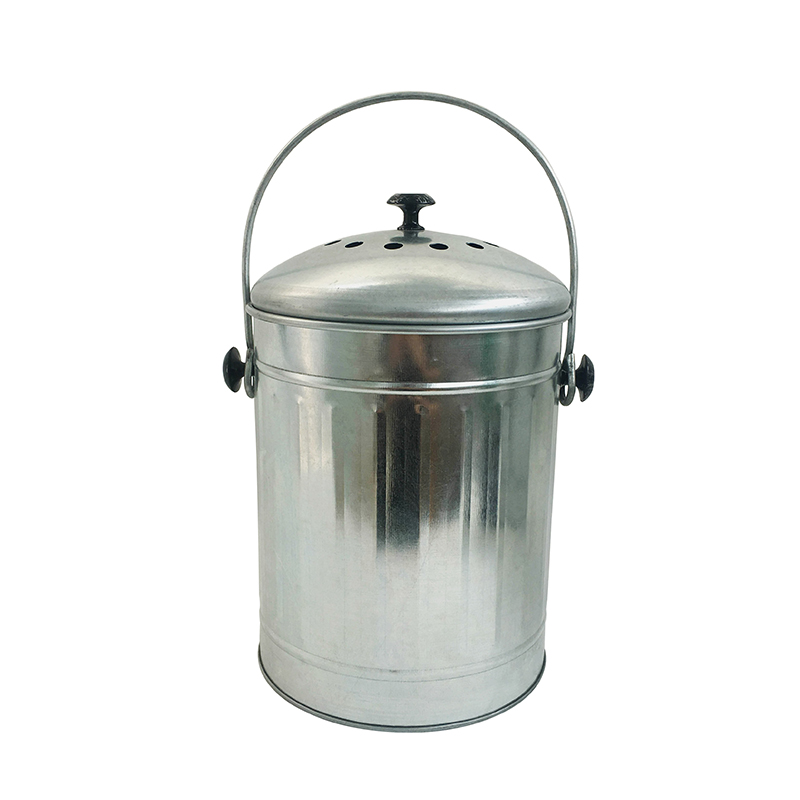 Galvanized Steel Indoor Countertop Kitchen Composter