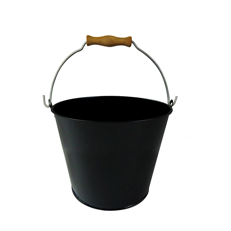 Custom printed Black power coated iron cheap buckets for sale
