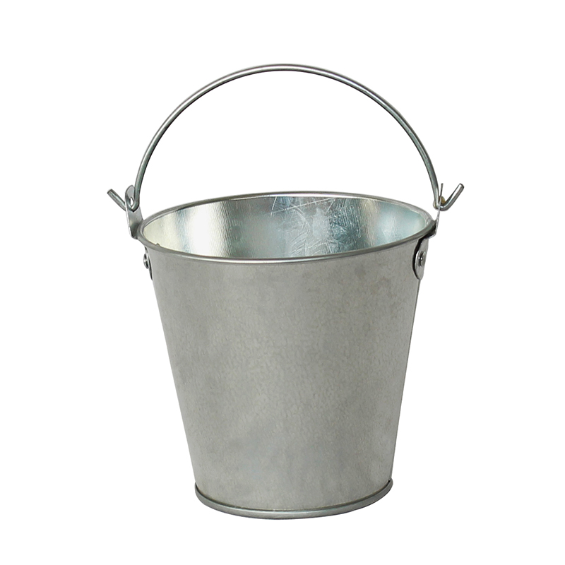 Wholesale Sliver galvanized steel small bucket with handle