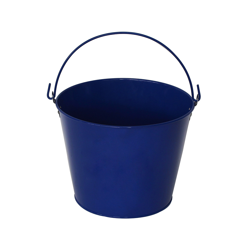 Custom Logo Blue Paint Barefoot Refresh Tin Bucket