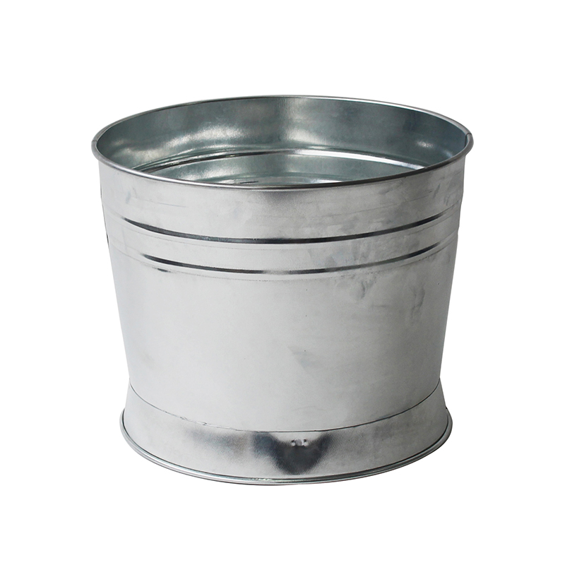 Wholesale Iron Sliver Custom Logo Galvanized pail bucket