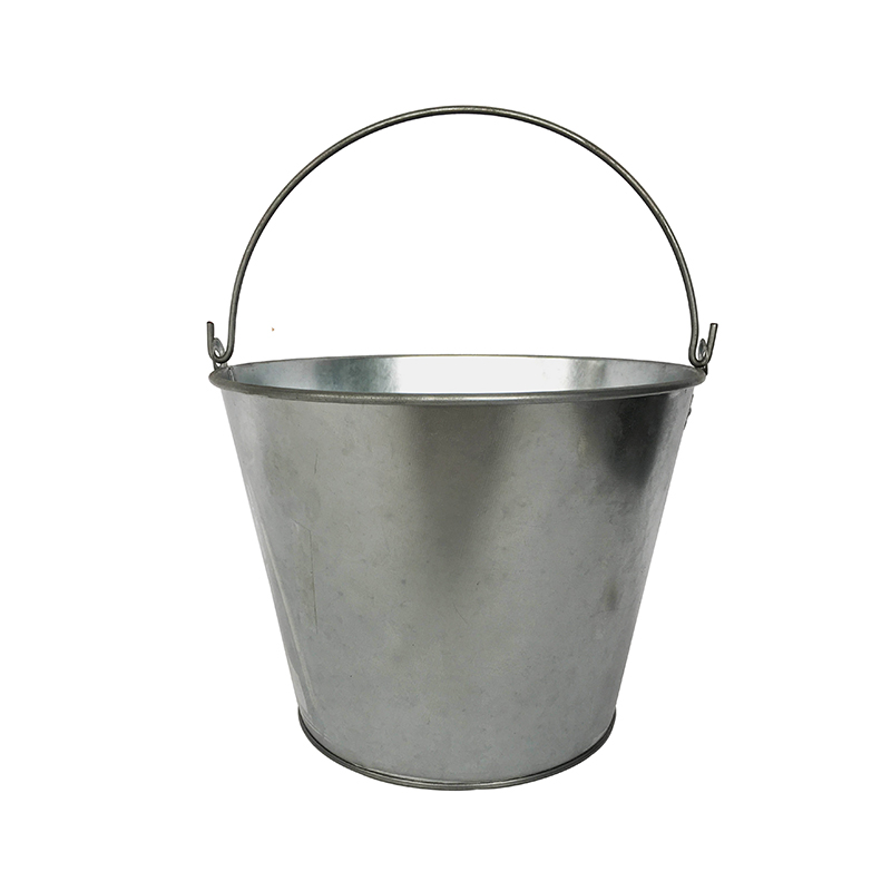 Galvanized Steel 5L water bucket with handle