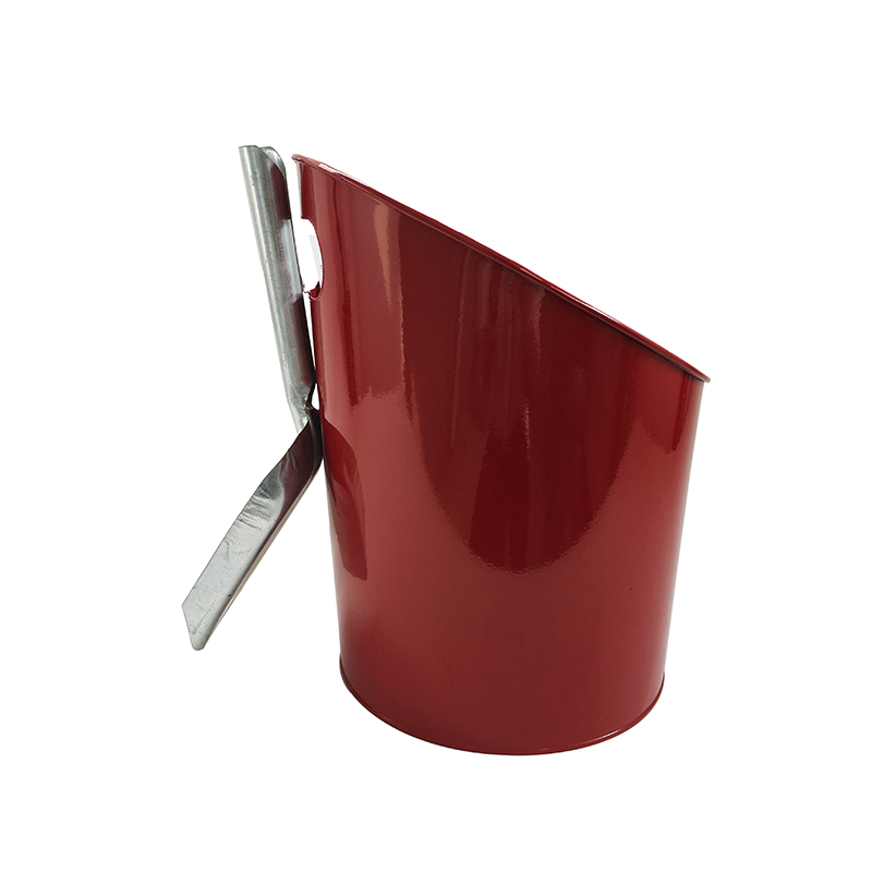 Home Decorative fireplace accessories red metal Coal bucket with shovel