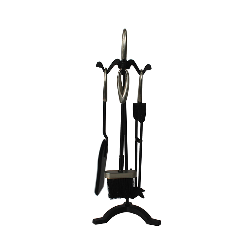 Fireplaces Hearth Decor Accessories Wrought Iron 5 Pieces Fireplace Tools