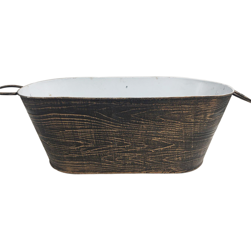 17 inches large Power Coated Antique Metal Party Tub With Handle