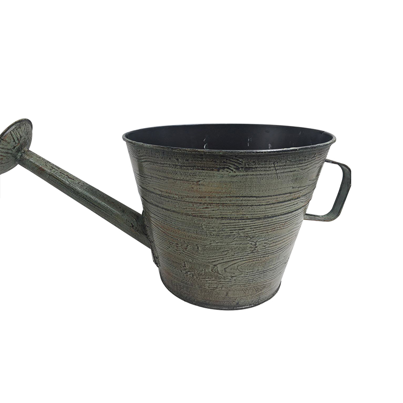 Rustic Design Antique Finish Garden Iron Metal Decorative Watering Can