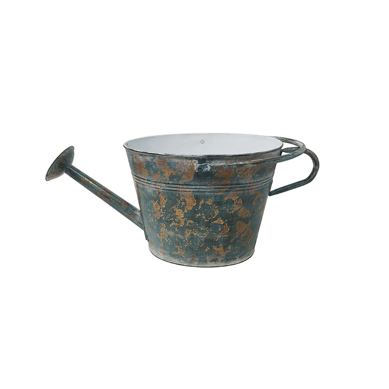Antique Rustic Vintage Country Metal Home Decor flower watering can