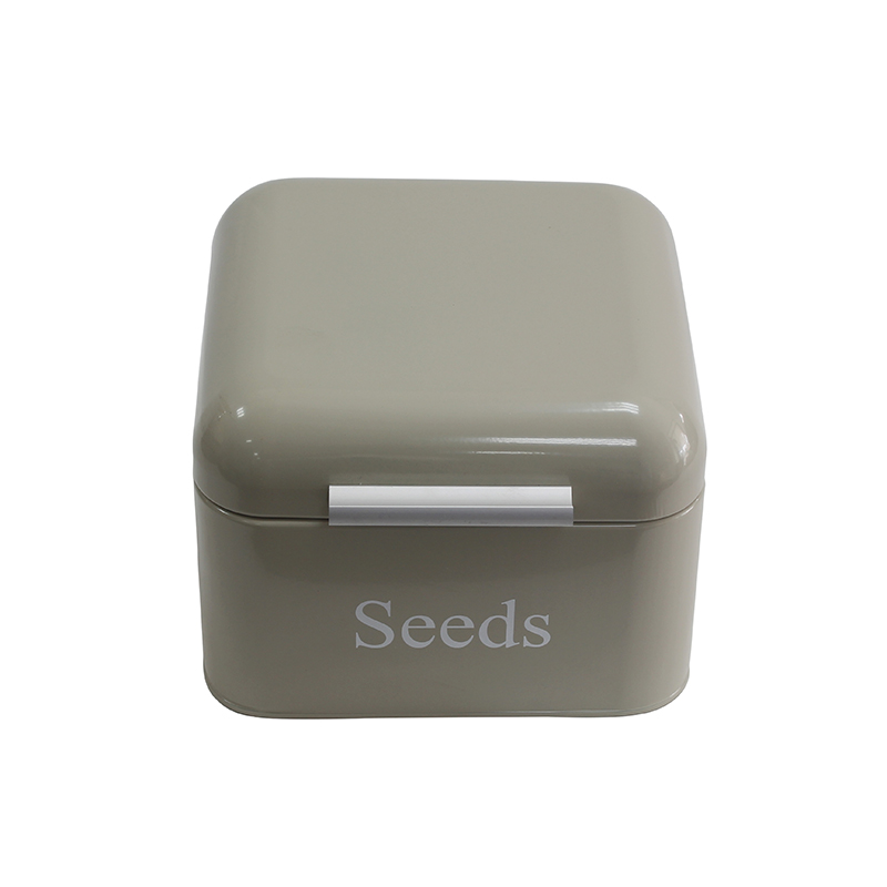 Galvanized iron metal flower vegetable seed storage bin