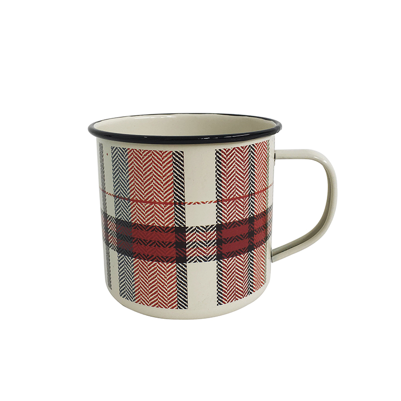 Personalized custom printing enamel camping mugs for sale
