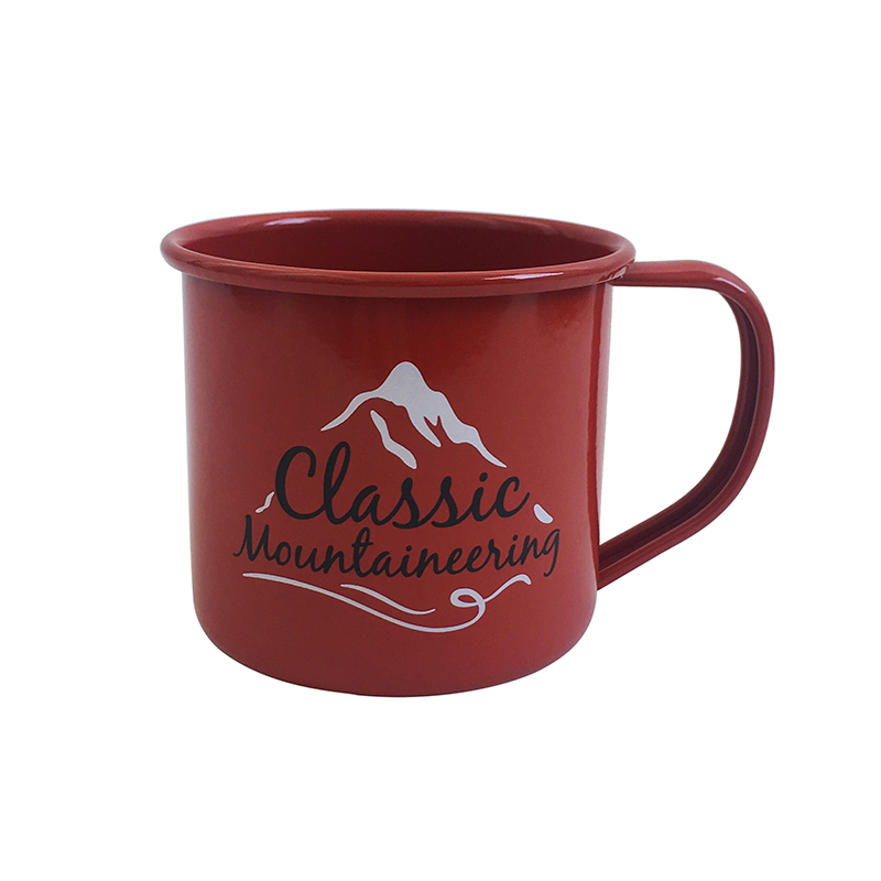 Metal Enamel Tea Coffee Drinking Mugs Cups for Home Party Travel Picnic Camping