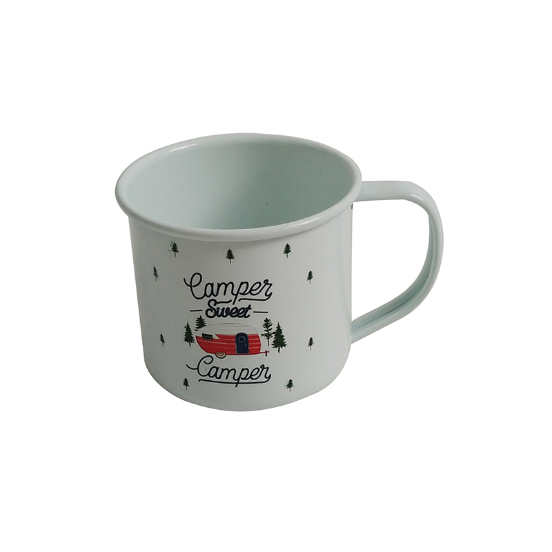 Iron Enamel Coffee Tea Beer Wine Camping travel mug with Handle