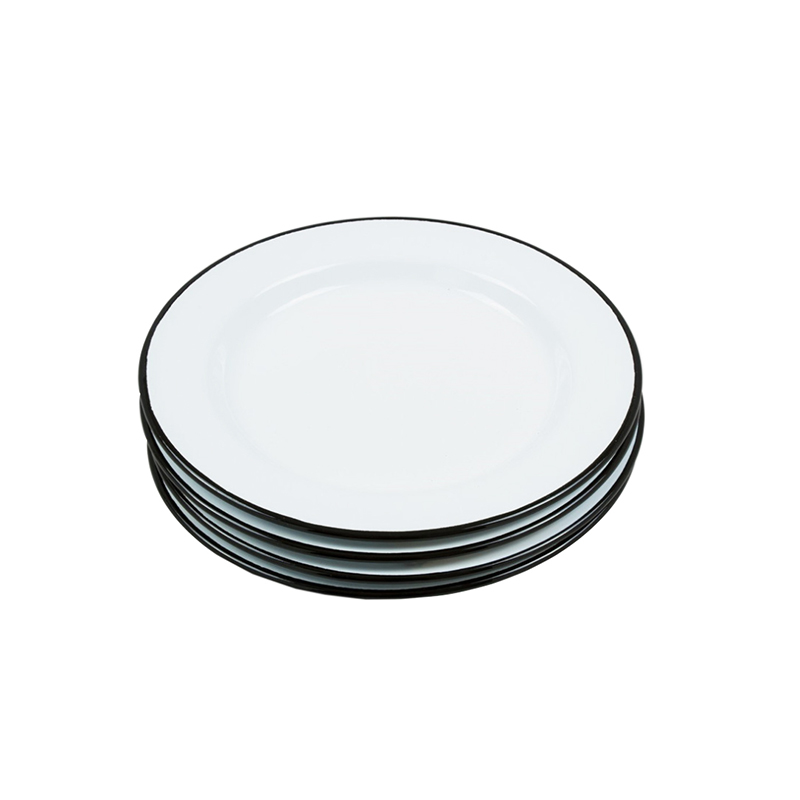 Set of 2 pack Fresh Style Enamel Dinnerware Plate