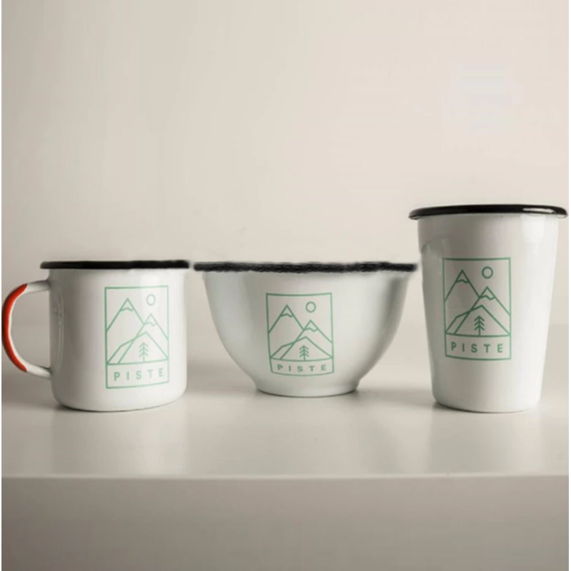 Carbon steel enamel coating Enamel mug bowl and tumbler Enamelware Dinner Set