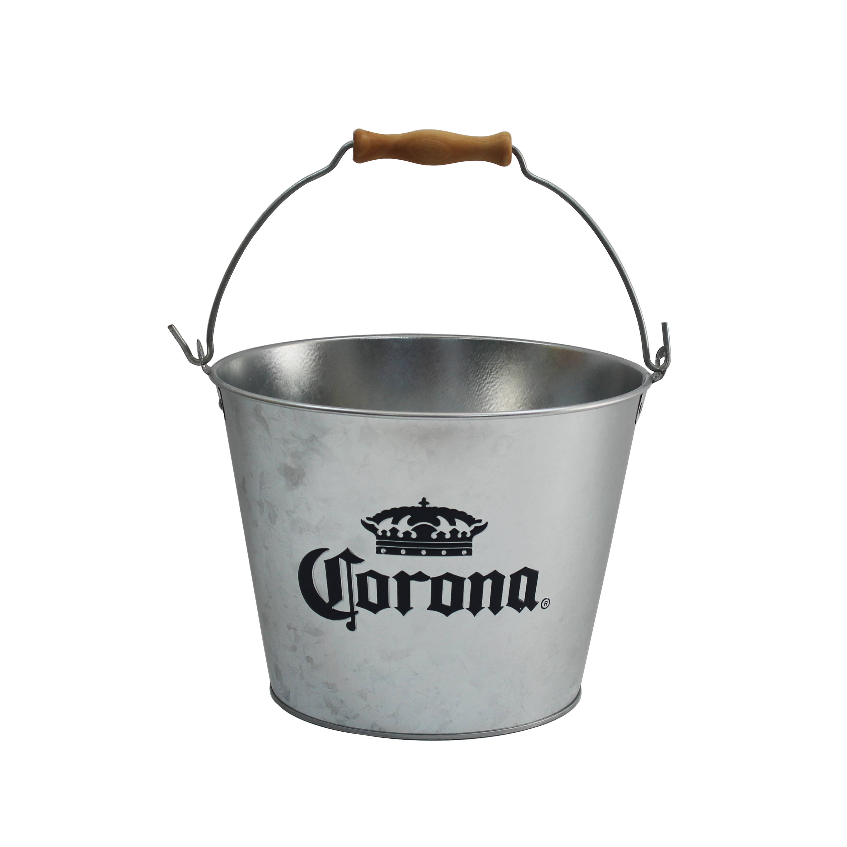 Corona Extra - Galvanized Metal Beer Bottle Ice Bucket with Handle