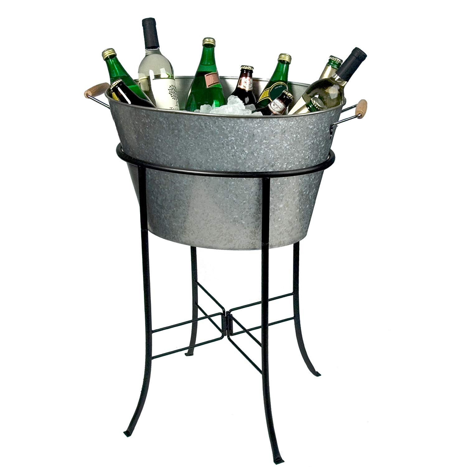 Galvanized Metal Party Tub with Stand