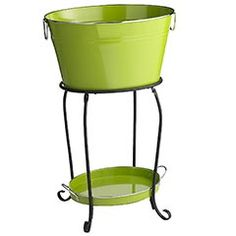 Home Galvanized Metal Party Drink Holder Beverage Tub with Stand