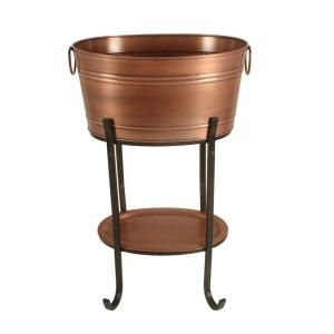 Factory wholesale cheap price personalized party copper beverage tub with stand
