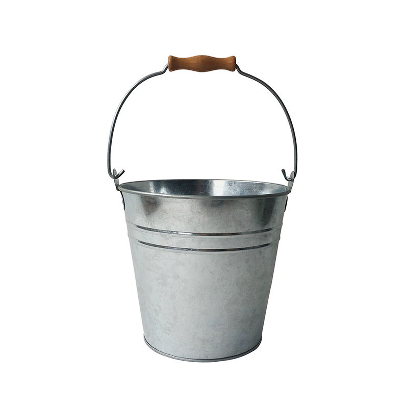 MIF+ Garden Galvanized Pail/bucket with ridges