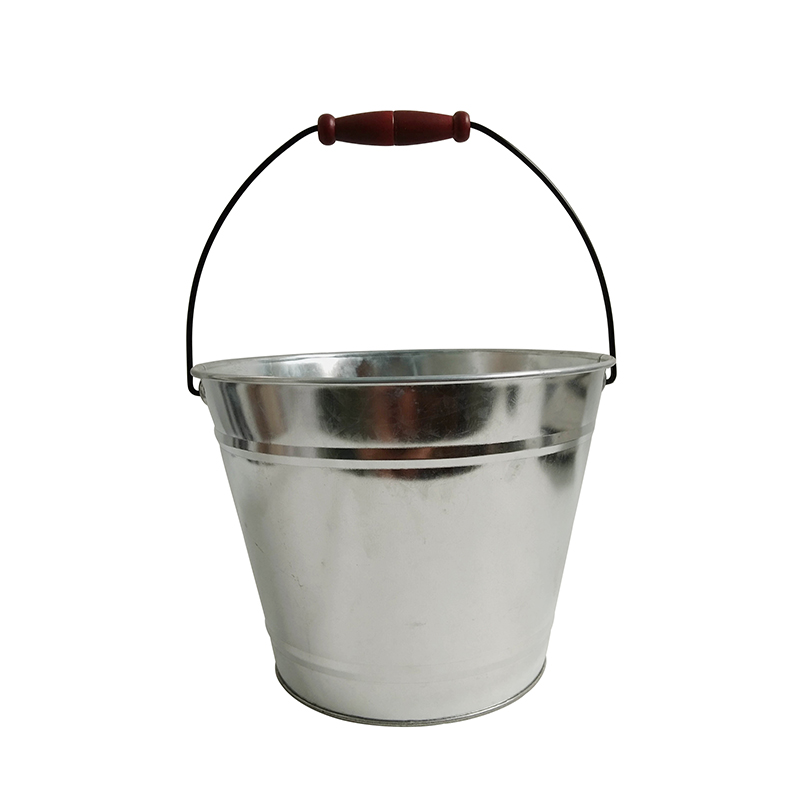 Flower Bucket Flower Plant Pot with Hanger Metal Iron Colored Pastoral for Balcon