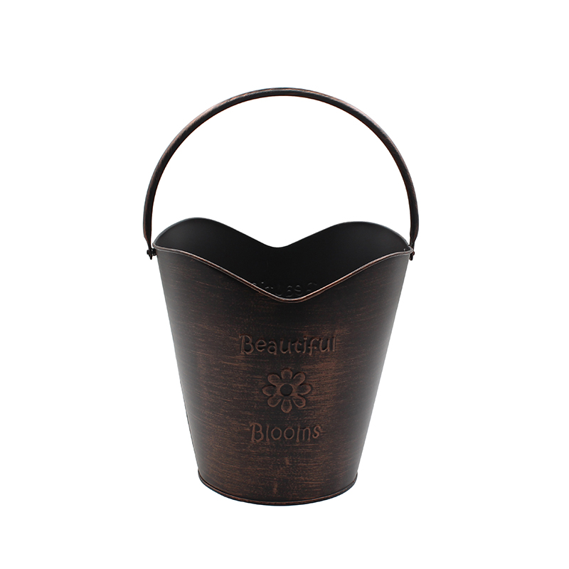 Antique Bronze Bucket. Ideal for Dried Floral Arrangements at Home, for Weddings