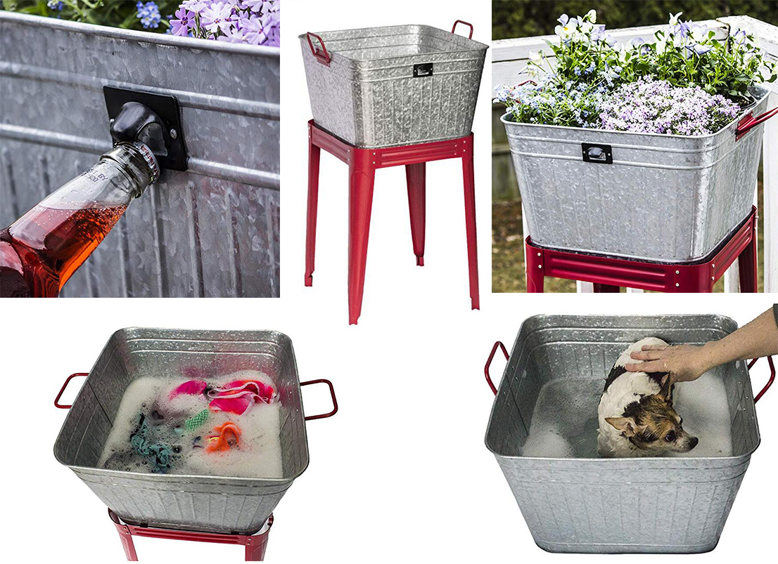 17 Gallon Metal Galvanized Tub Can About Product