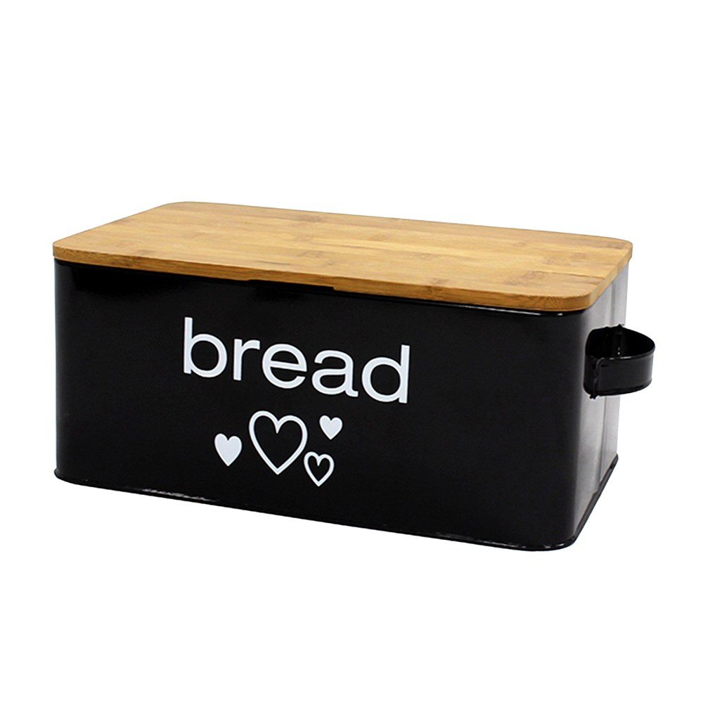 Extra Large Space Saving Vertical Bread Box with Eco Bamboo Cutting Board Lid -