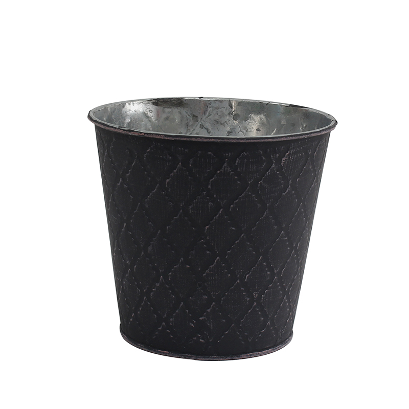 Indoor and Outdoor Decoration Galvanized Planter Pot