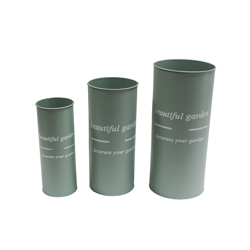 Set of 3 Galvanized Vases / French Buckets. Ideal for DIY Craft and Floral Proje