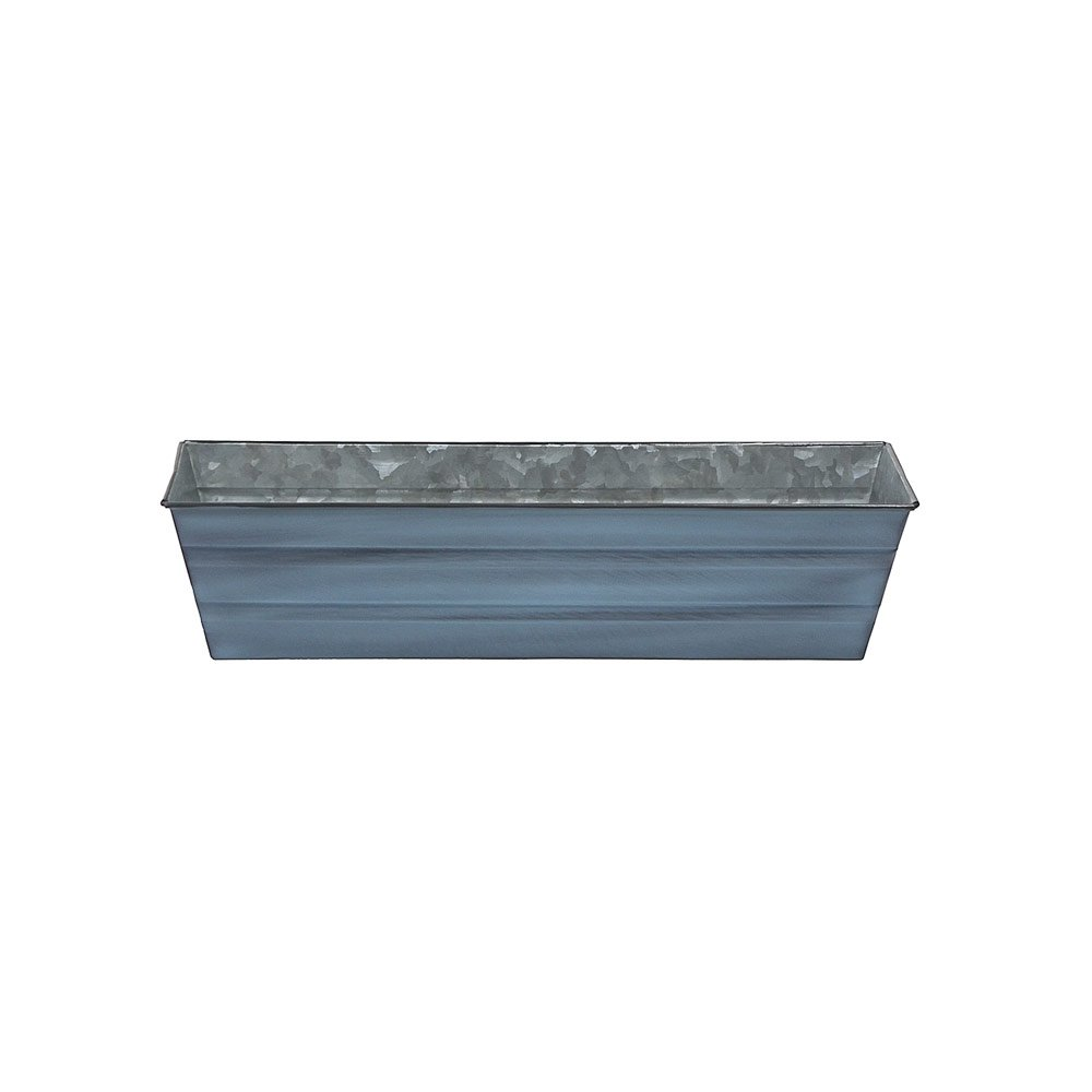 "Galvanized Window Flower Box Planter-Blue-Small (22"" L x 6"" W x 5"" H)"