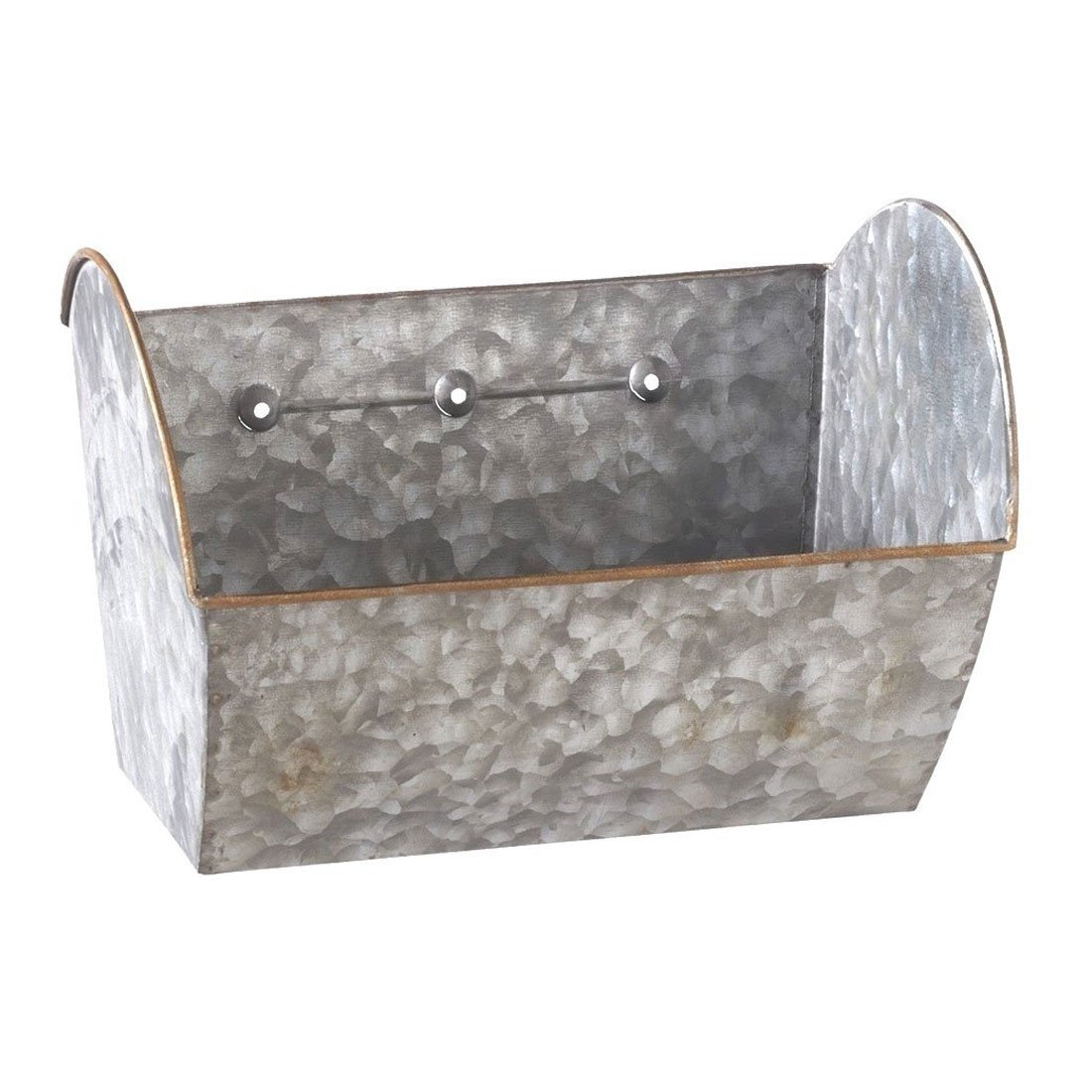 "8.5"" x 5.5"" Galvanized Metal Hanging Wall Planter"