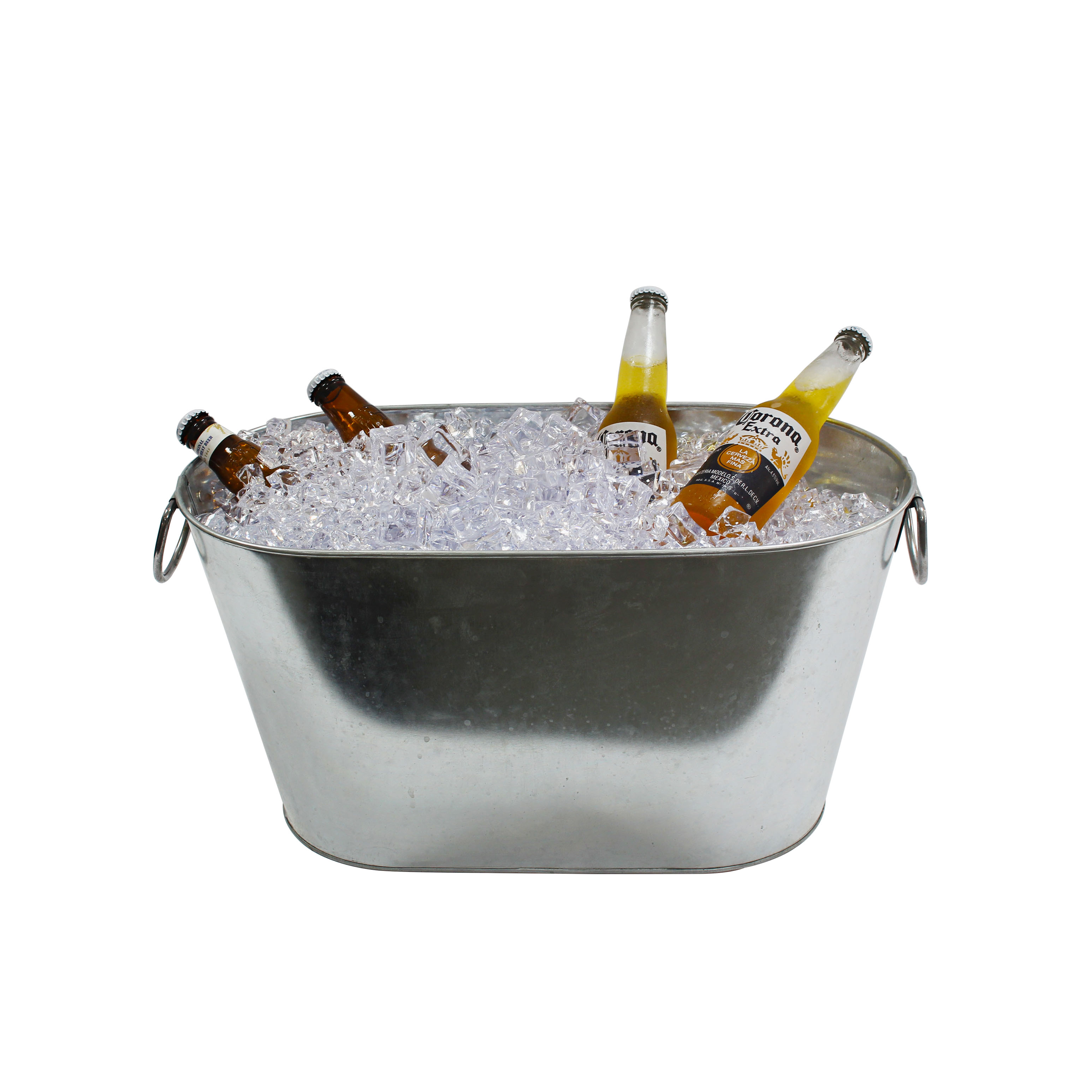 Wholesale wedding decoration large silver rustic farmhouse galvanized steel cheers metal oval party beverage tub