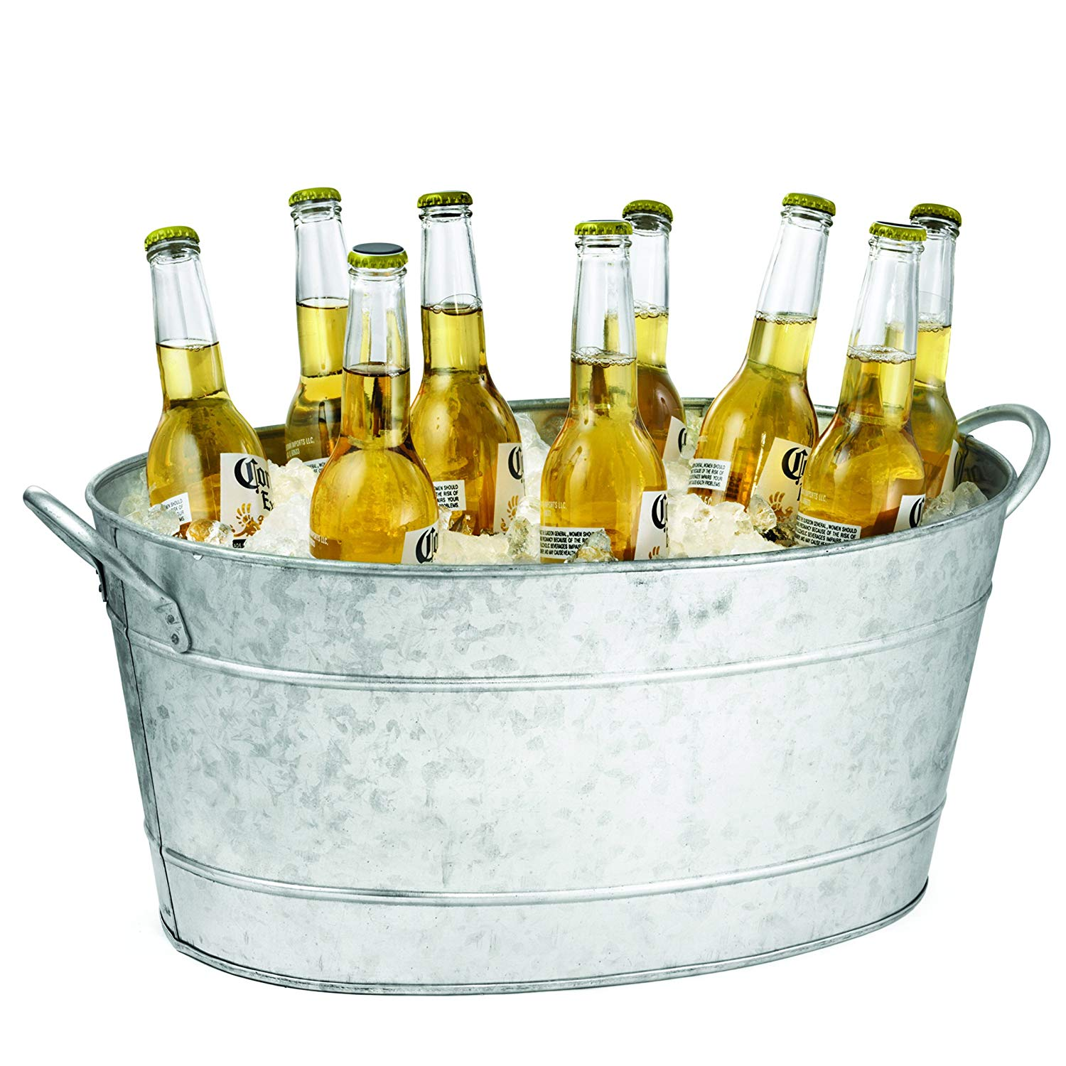 5.5 Gallons Galvanized Oval Beverage Tub