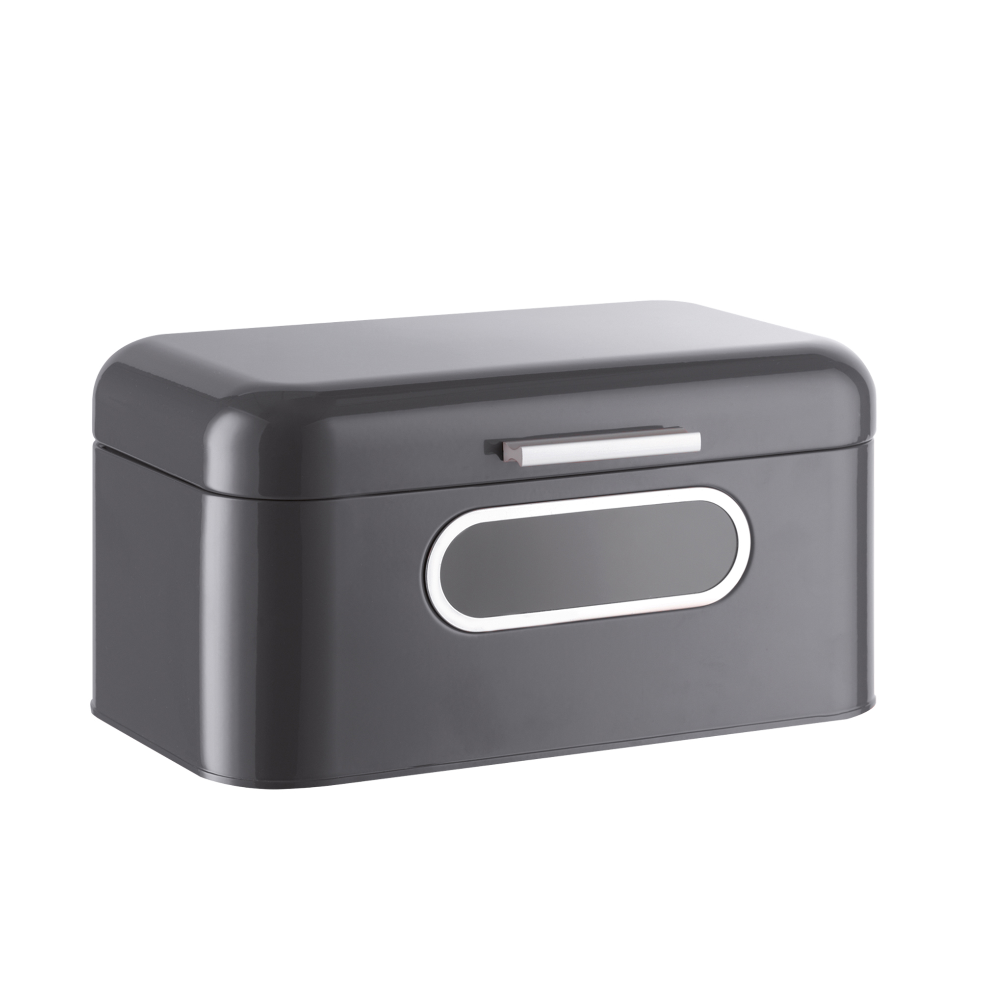 Bread Box for Kitchen Countertop - Black Bread Bin Storage Container with Lid for
