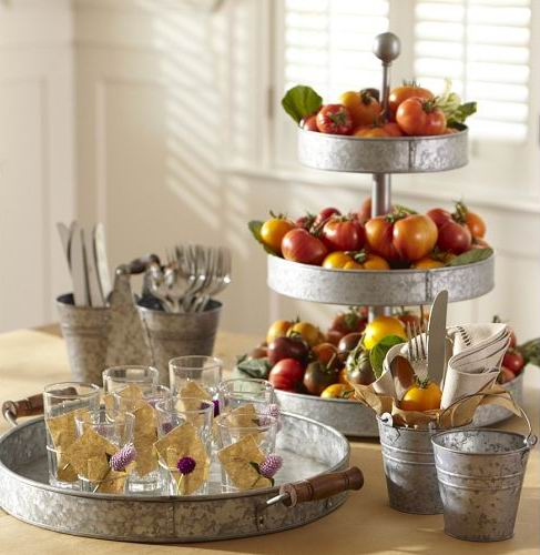 Would you like 2/3 tier galvanized tray for your high tea?