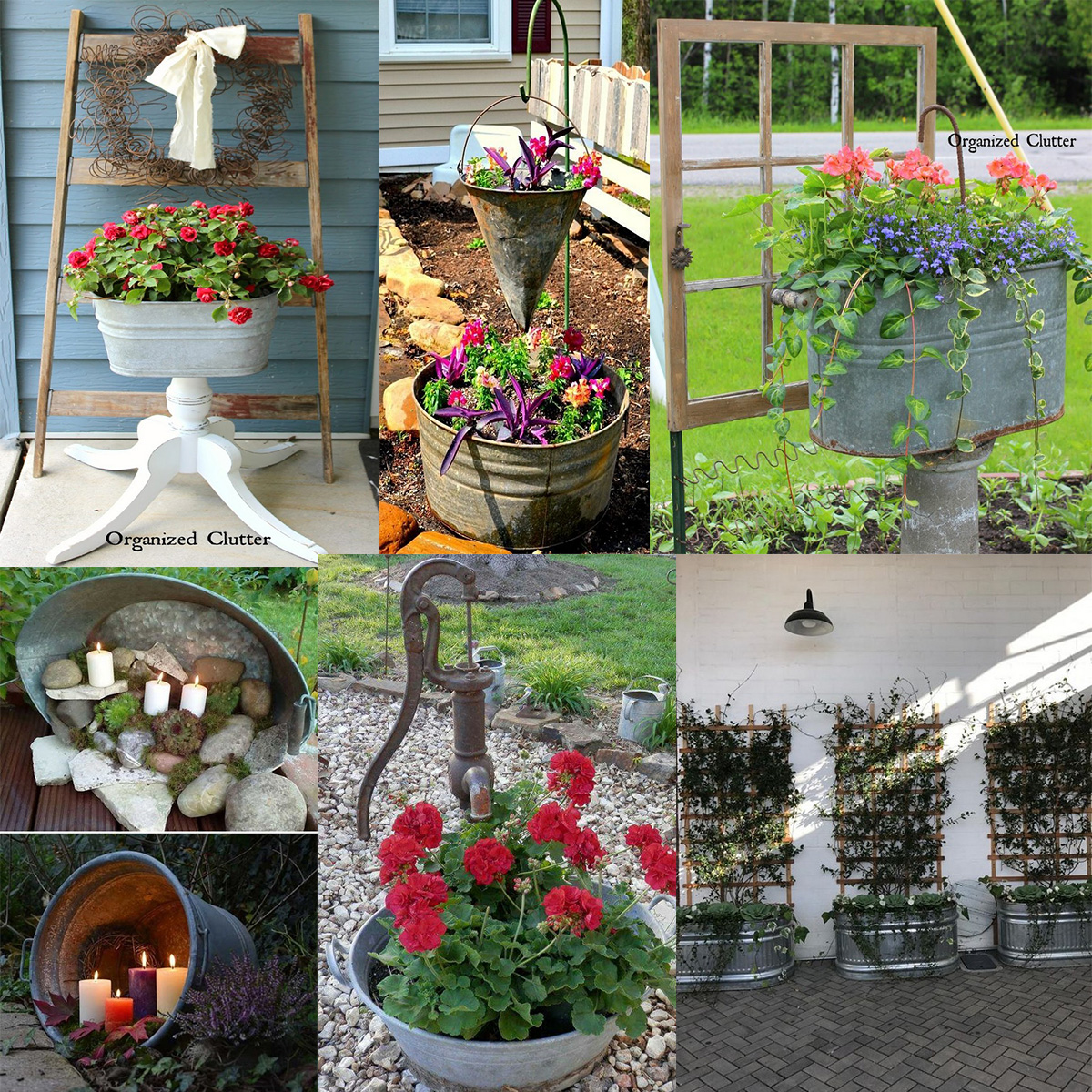 Today we prepare great ideas for you how to use galvanized tubs in your garden