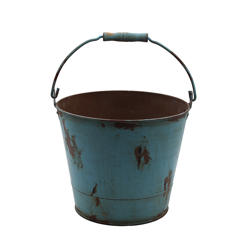Galvanized Rustic Metal Buckets with Handles for Planters and Home Decor