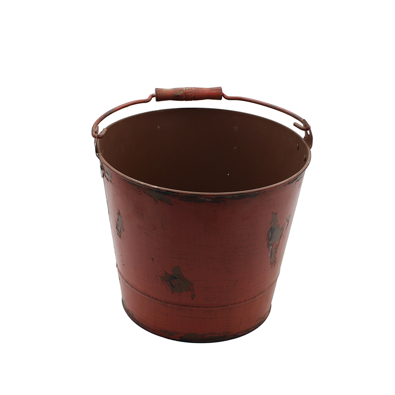 Galvanized Metal Garden Bucket Ideal for Planting Decoration Storage