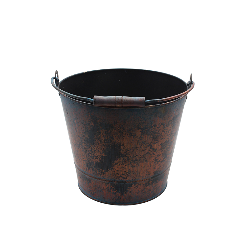 Vintage Rustic Finish Metal Pail For Home Garden decor