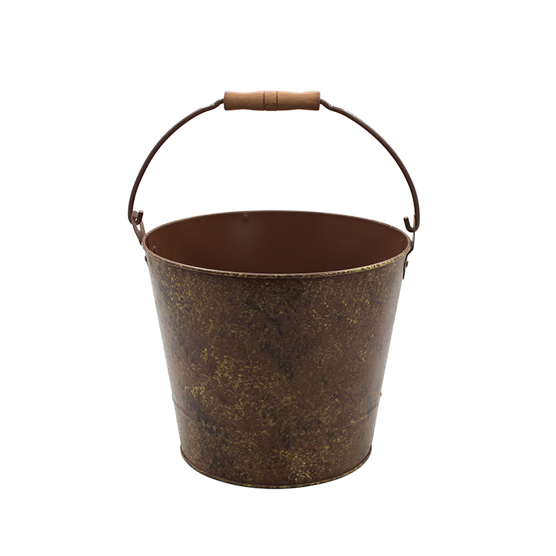 Vintage Farmhouse Style Galvanized Metal Rustic bucket for sale
