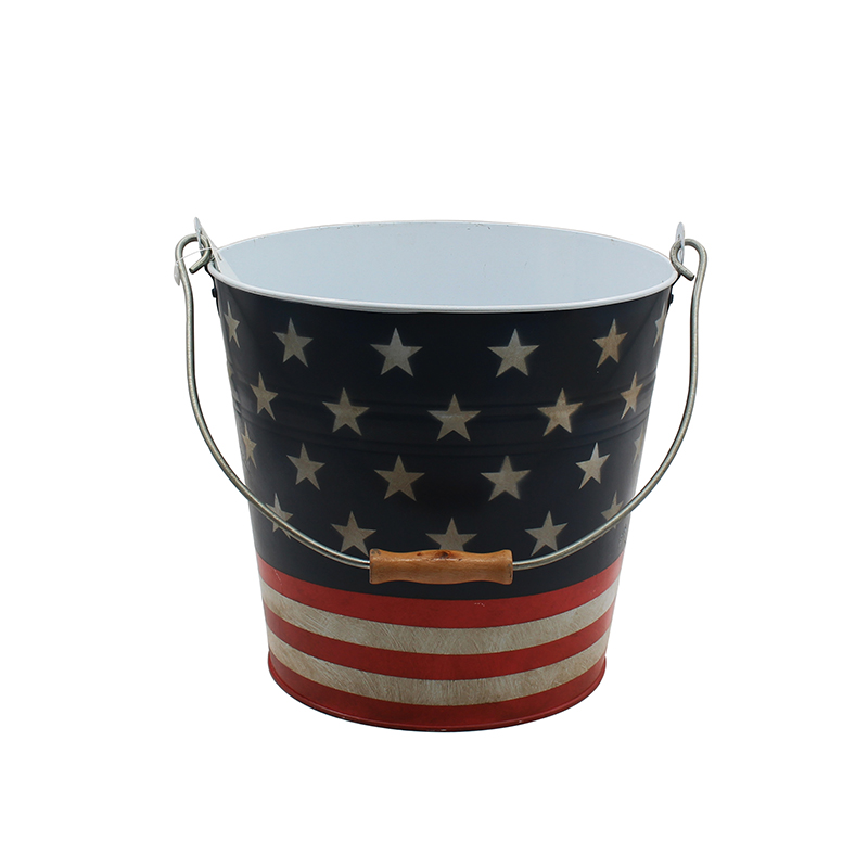 Party Supplies Metal Decorative Buckets With Handles