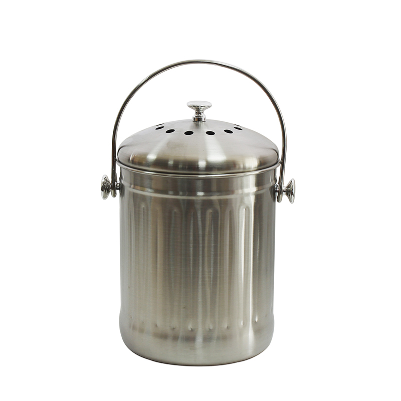 1.3 Gallon 5L High Grade Stainless Steel Kitchen Food Waste Compost Bin