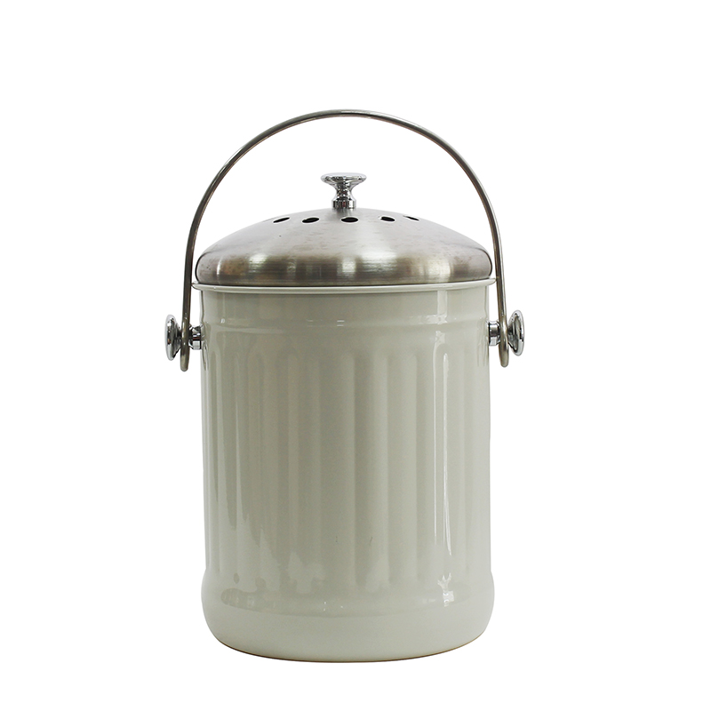 1.3 Gallon Stainless-Steel Indoor Compost Bucket for Kitchens