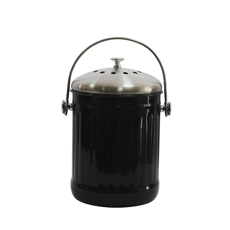 Stainless Steel 1.3 Gallon Compost Bucket Kitchen Compost Pail with Lid