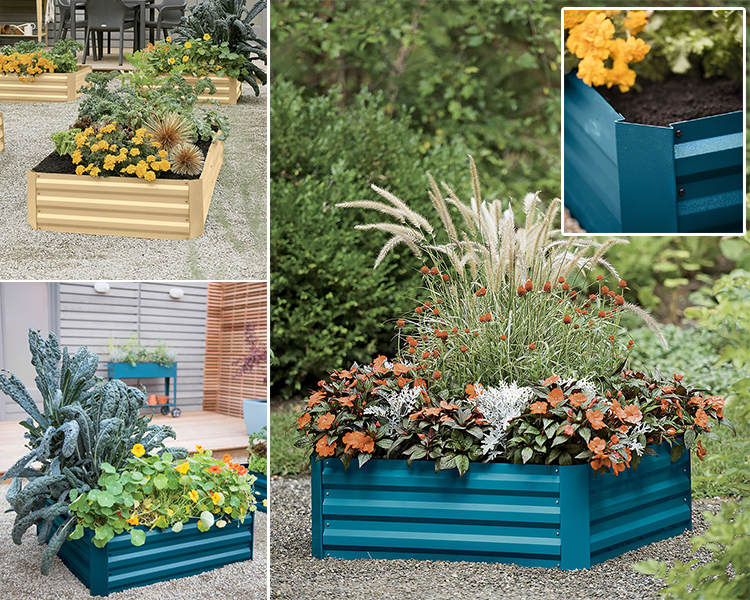 Galvanized Raised Garden Beds for Vegetables Metal Planter Boxes Outdoor Large Patio Bed Kit Planting Herb