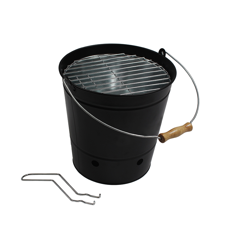 Wholesale Outdoor Camping Picnic Portable Barbecue Grill with Bucket Shape