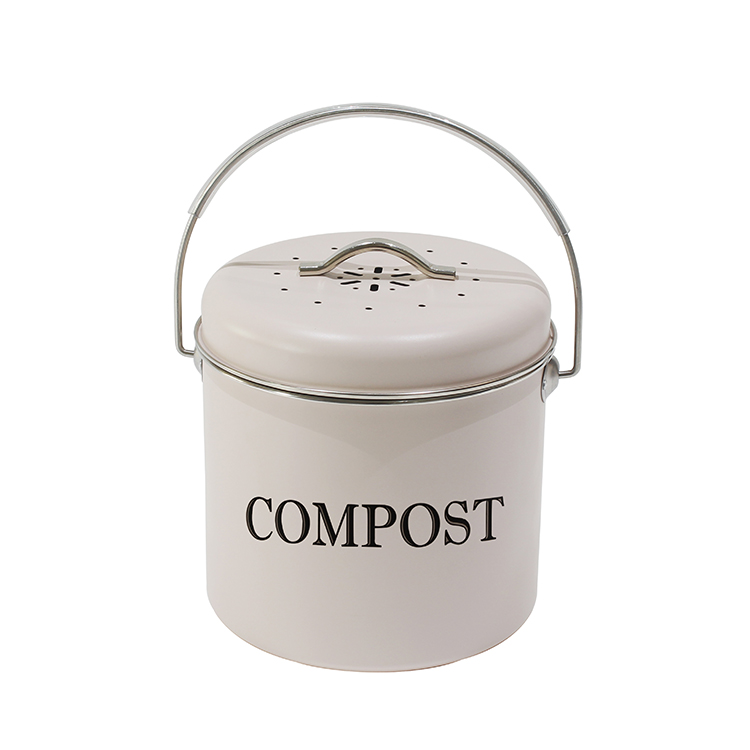 Wholesale Home Use 1.3 Gallon / 5 Liter Vintage Countertop Recycling Compost Bin