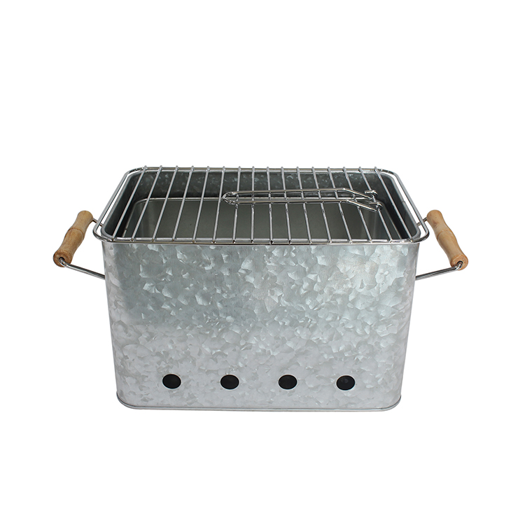 Chinese wholesale indoor outdoor use iron portable charcoal barbecue bucket bbq grills