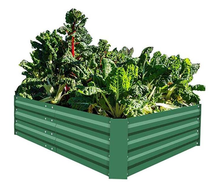 Outdoor Herb Large Planter Box Steel Gardening Kit Metal Raised Garden Beds for V